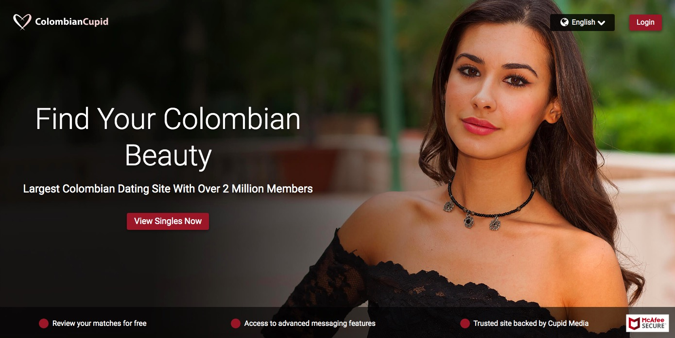 ColombianCupid main page